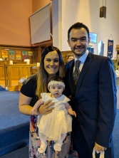 Family photo in the church